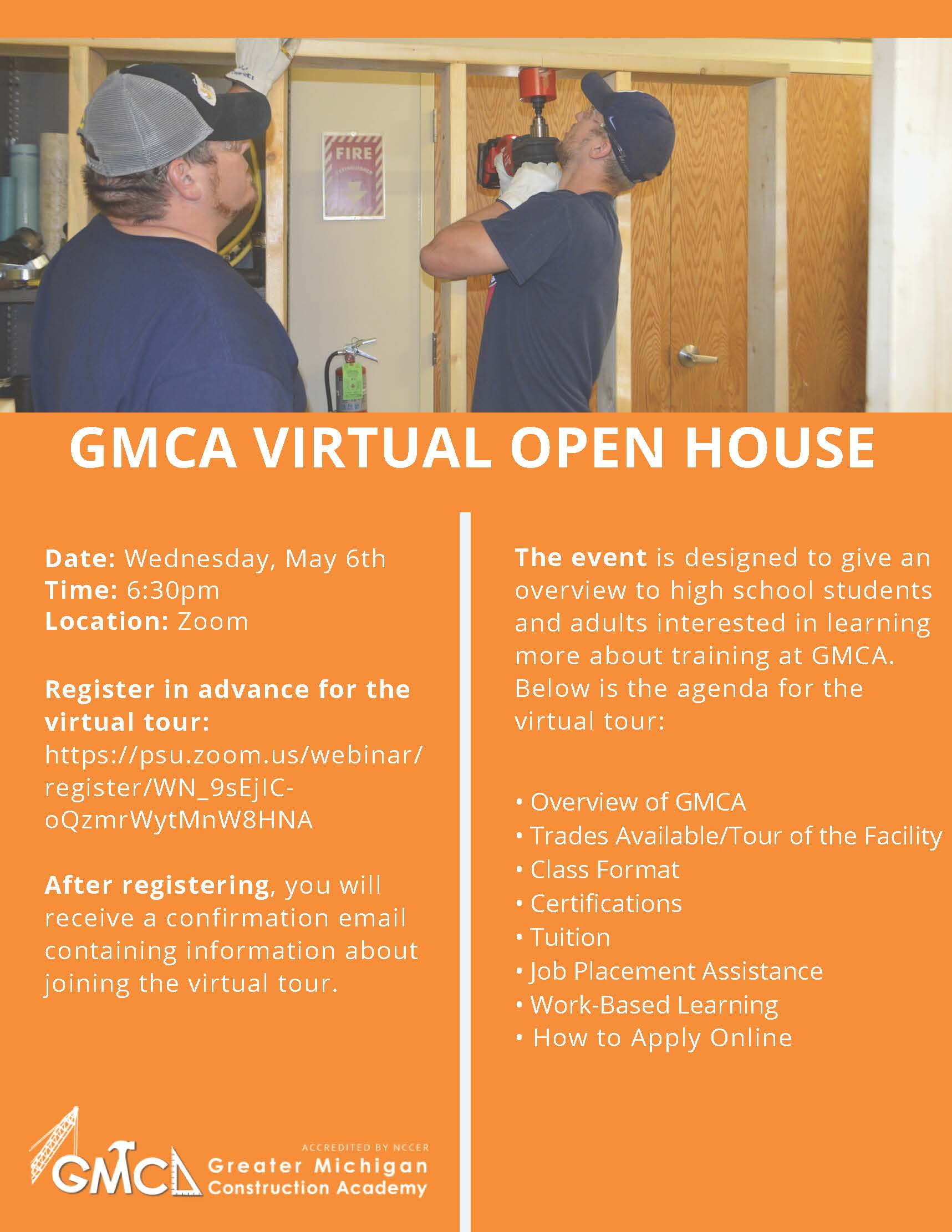 GMCA Virtual Open House Flyer