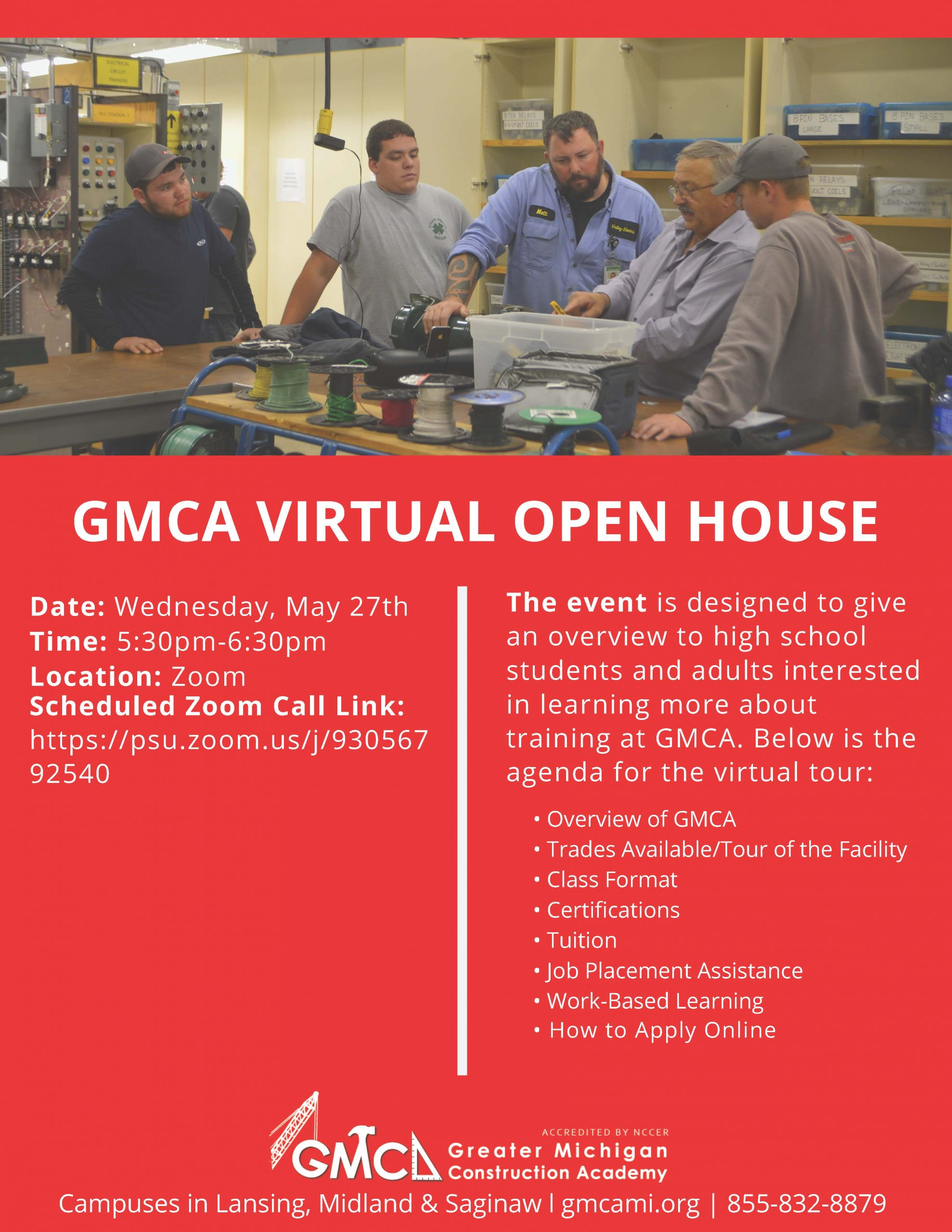 GMCA virtual open house